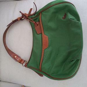 Dooney & Bourke leather trim cancas purse